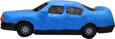 araba mavi kucuk